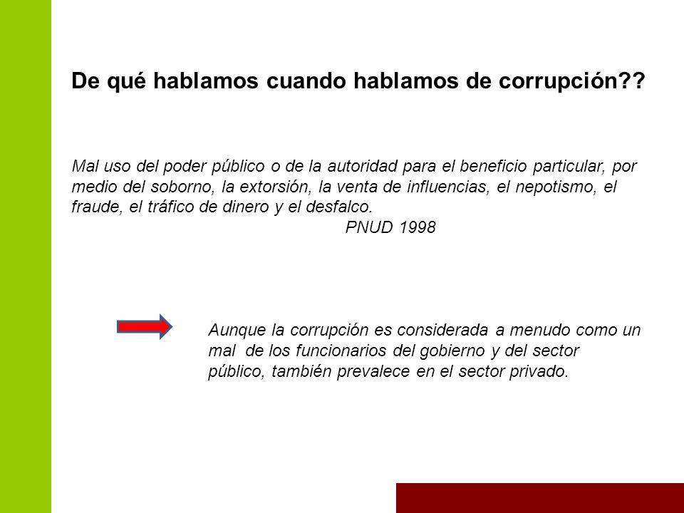 De qué hablamos cuando hablamos de corrupción