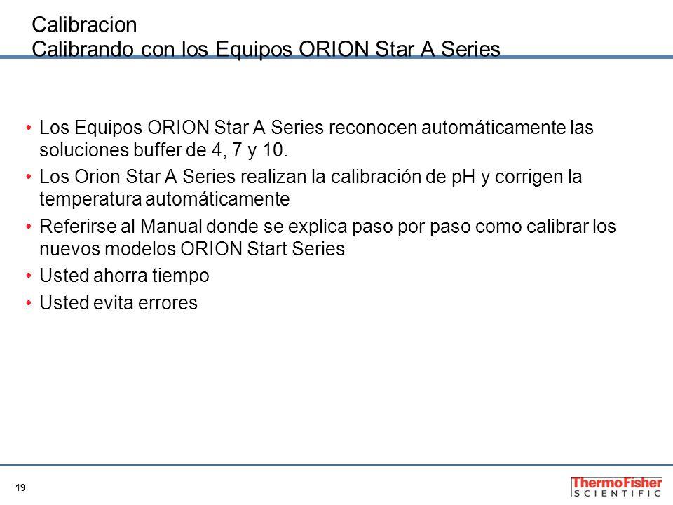 Calibracion Calibrando con los Equipos ORION Star A Series