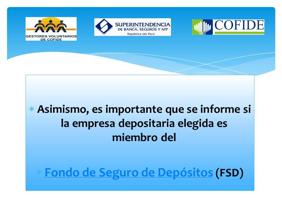 Fondo de Seguro de Depósitos (FSD)
