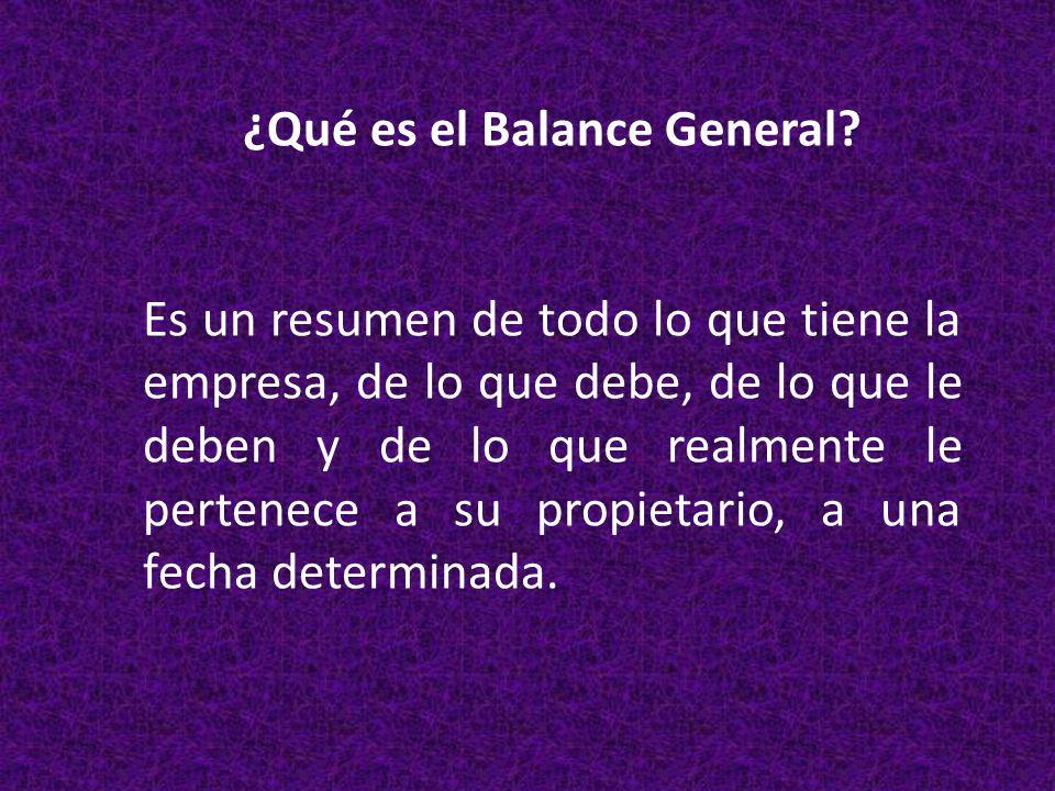 ¿Qué es el Balance General