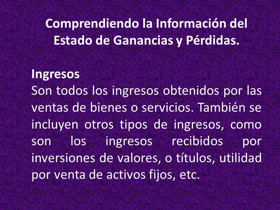 Comprendiendo la Información del Estado de Ganancias y Pérdidas.