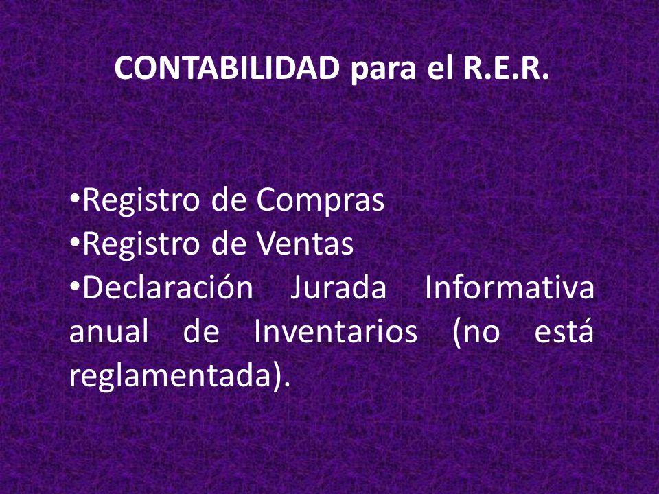 CONTABILIDAD para el R.E.R.
