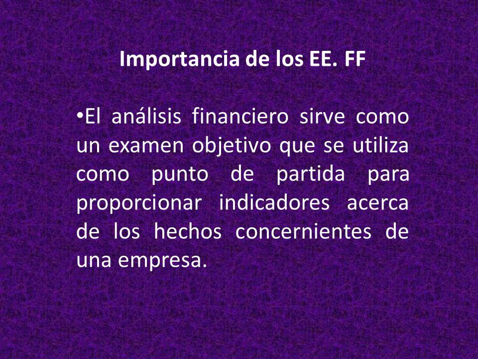 Importancia de los EE. FF
