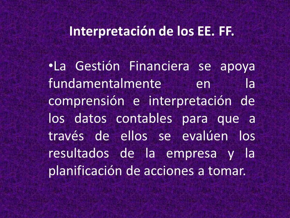 Interpretación de los EE. FF.