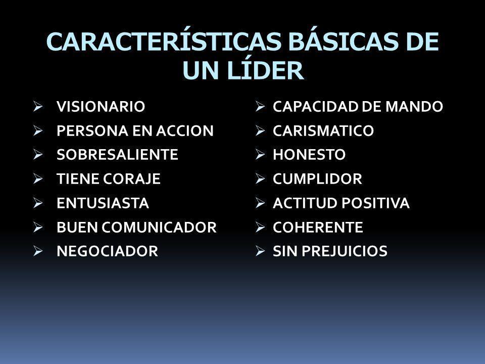 CARACTERÍSTICAS BÁSICAS DE UN LÍDER