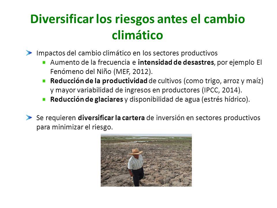 Diversificar los riesgos antes el cambio climático