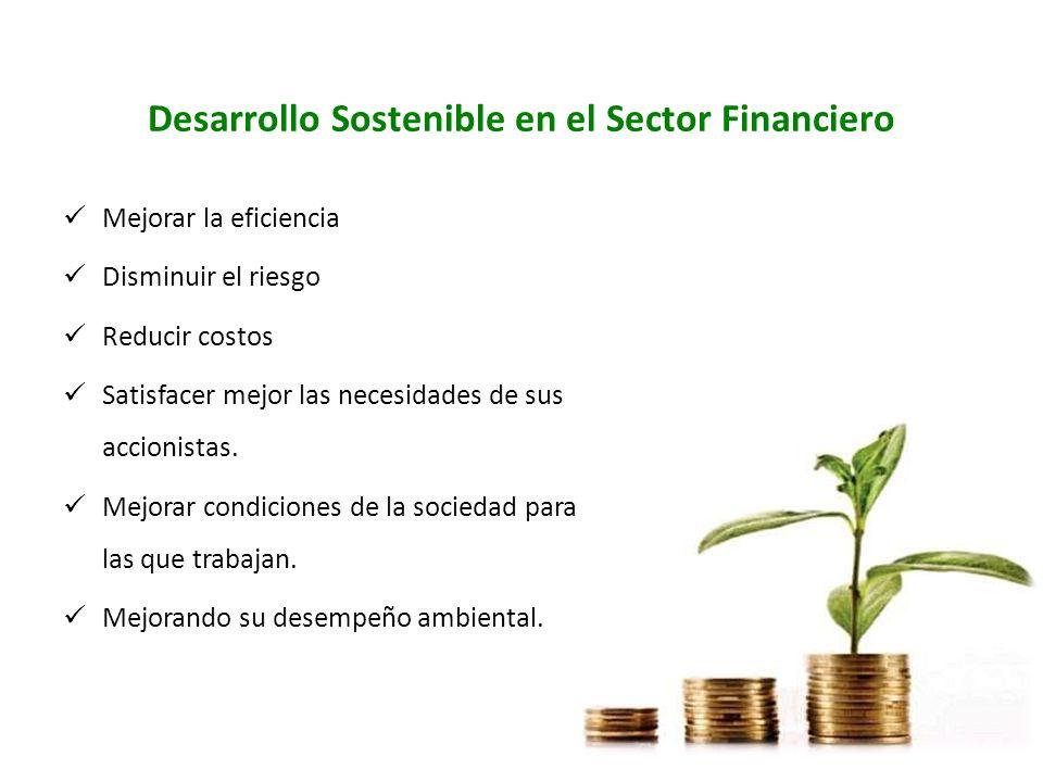 Desarrollo Sostenible en el Sector Financiero