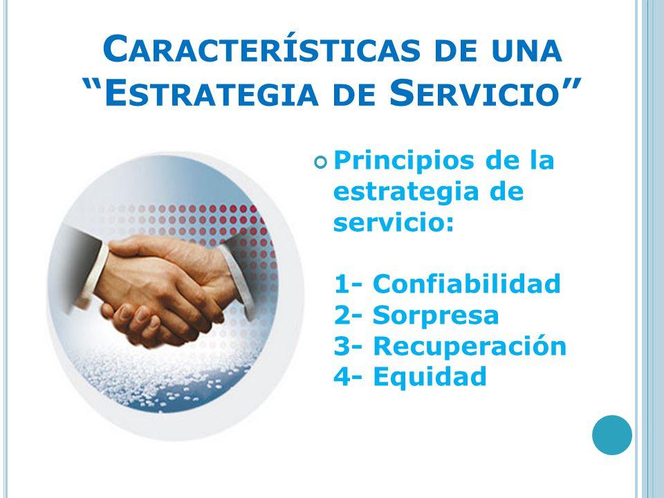 Características de una Estrategia de Servicio