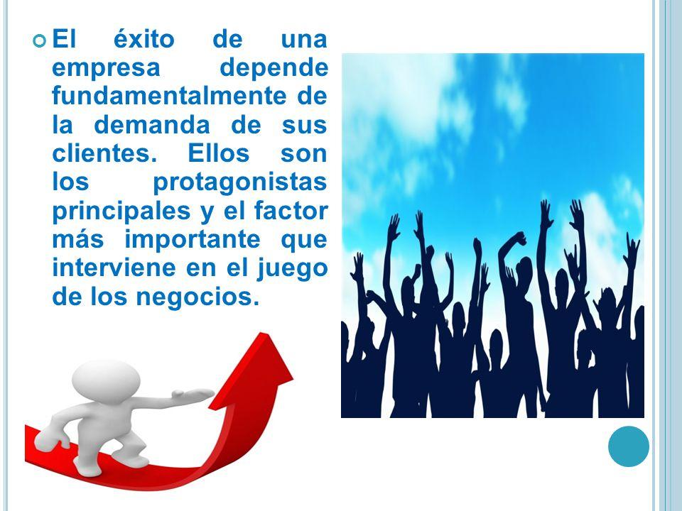 El éxito de una empresa depende fundamentalmente de la demanda de sus clientes.