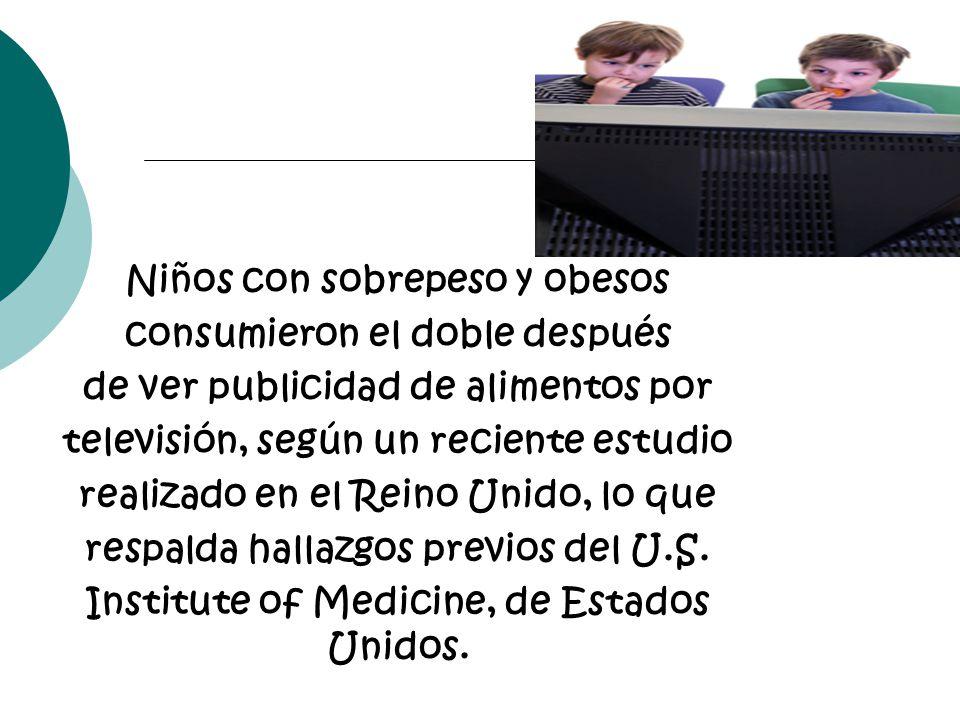 Niños con sobrepeso y obesos consumieron el doble después