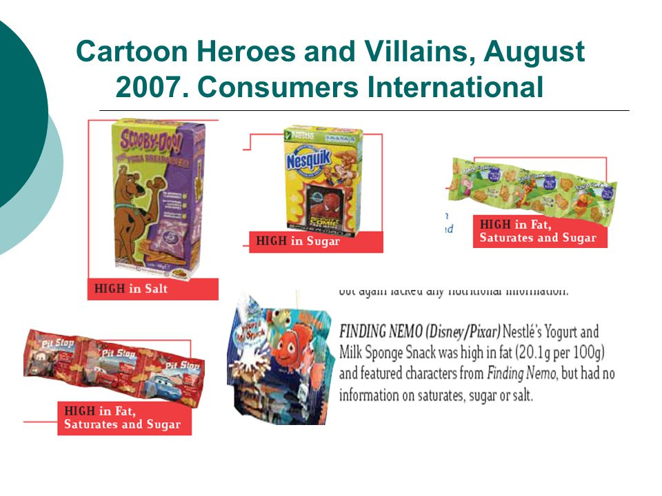 Cartoon Heroes and Villains, August 2007. Consumers International
