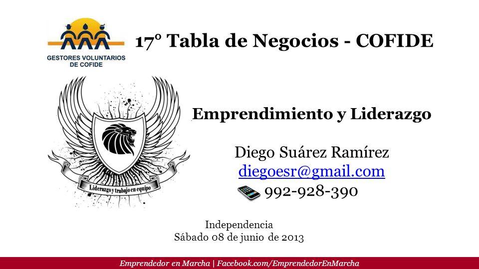 17° Tabla de Negocios - COFIDE Emprendimiento y Liderazgo