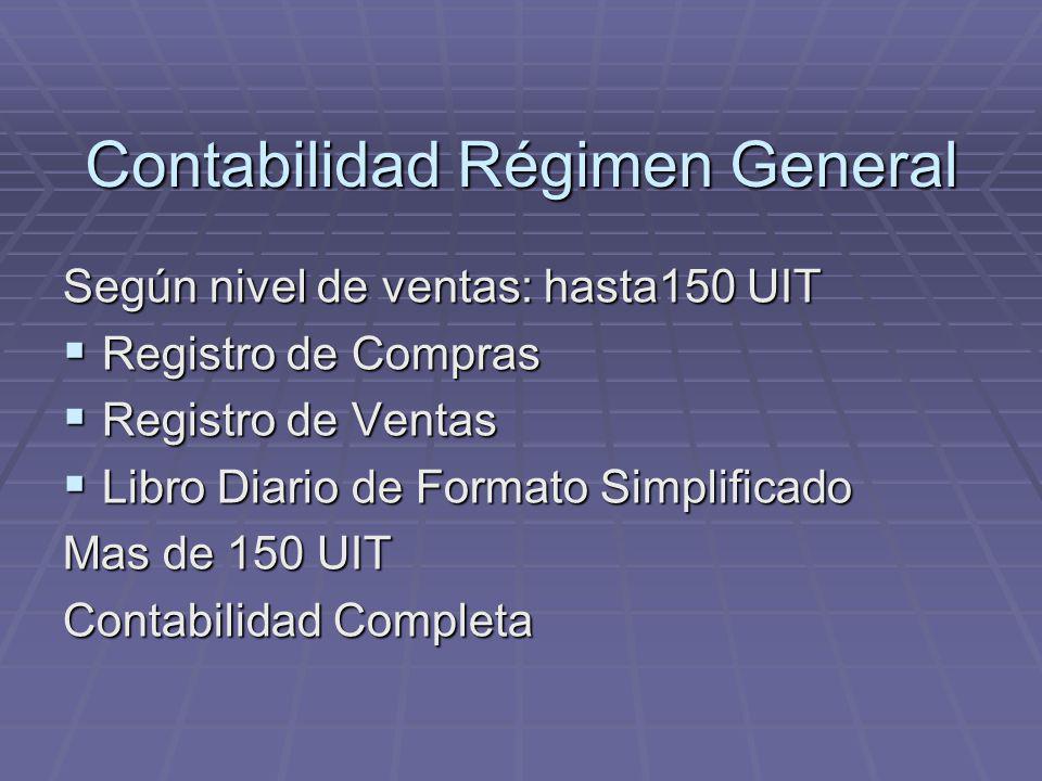Contabilidad Régimen General
