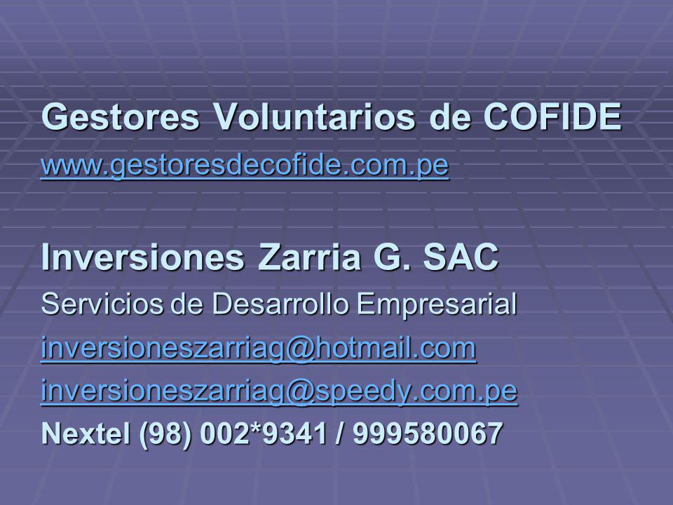 Gestores Voluntarios de COFIDE