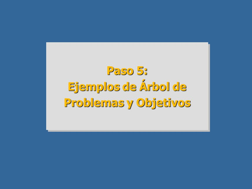 Ejemplos de Árbol de Problemas y Objetivos
