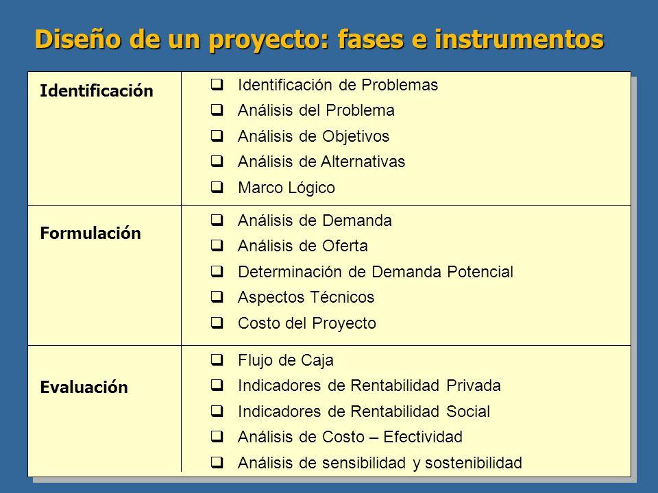 Diseño de un proyecto: fases e instrumentos