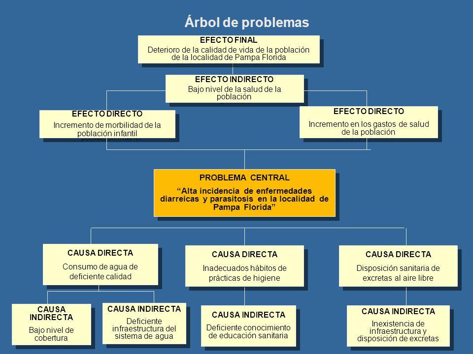 Árbol de problemas PROBLEMA CENTRAL
