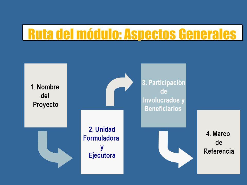 Ruta del módulo: Aspectos Generales