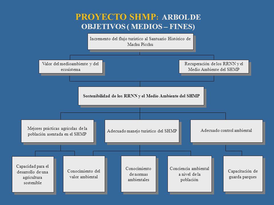 PROYECTO SHMP: ARBOL DE OBJETIVOS ( MEDIOS – FINES)