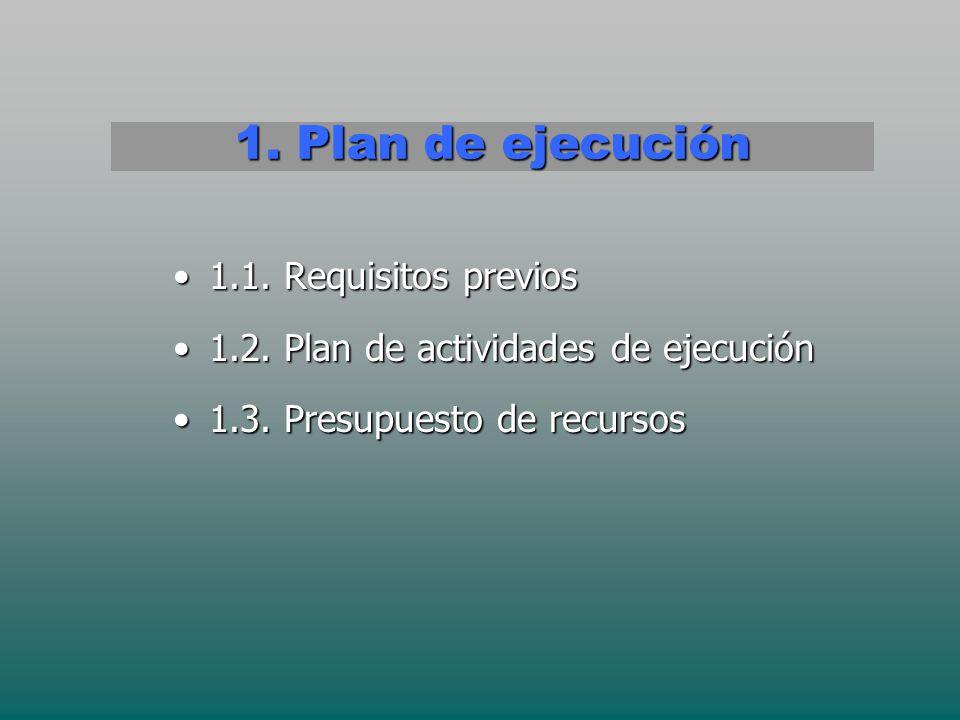 1. Plan de ejecución 1.1. Requisitos previos