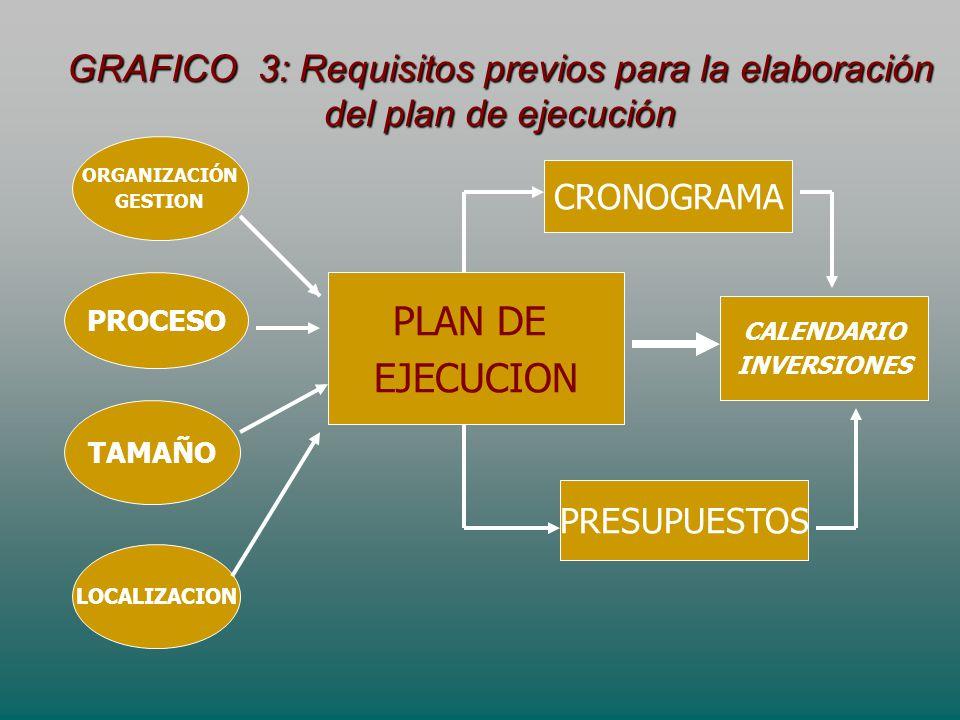 GRAFICO 3: Requisitos previos para la elaboración del plan de ejecución