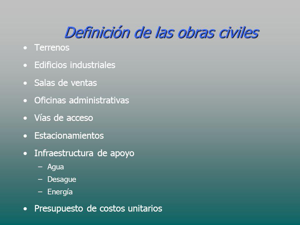 Definición de las obras civiles