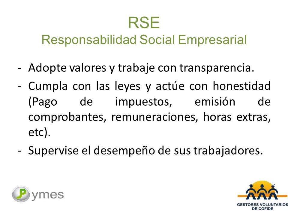 RSE Responsabilidad Social Empresarial