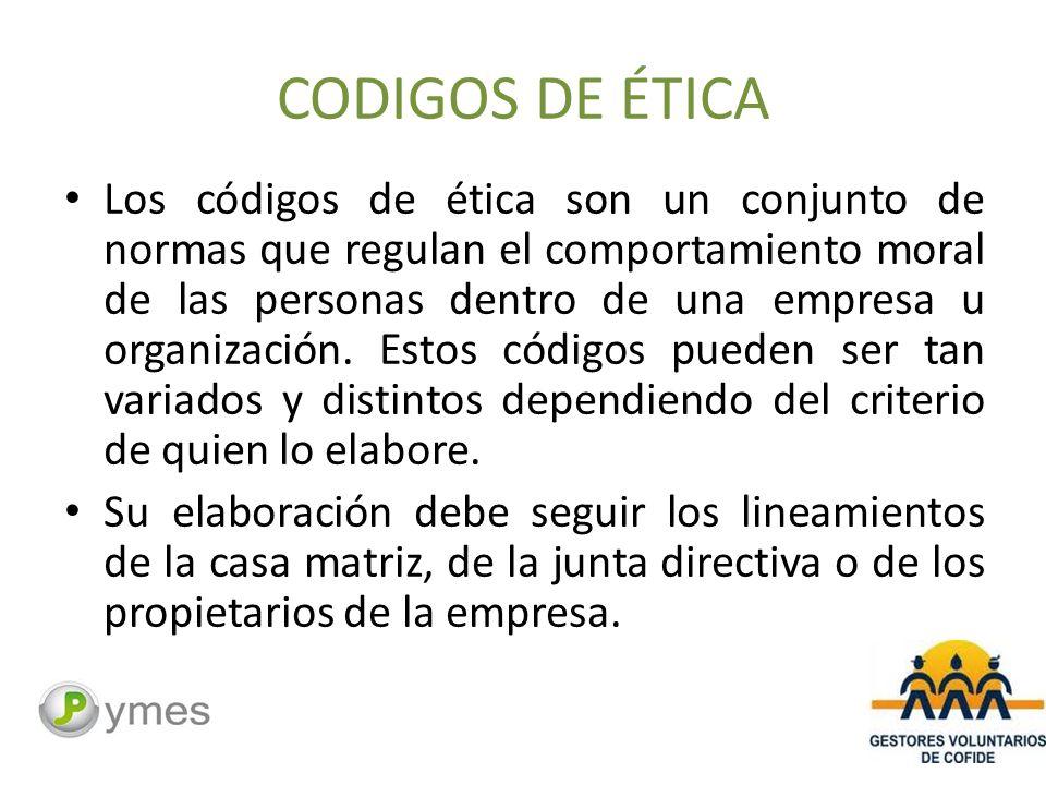 CODIGOS DE ÉTICA