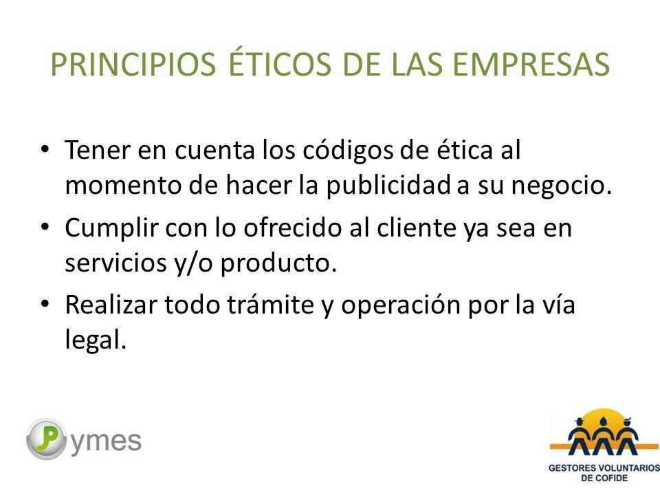 PRINCIPIOS ÉTICOS DE LAS EMPRESAS