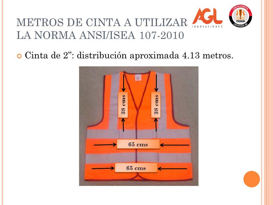 METROS DE CINTA A UTILIZAR PARA LA NORMA ANSI/ISEA 107-2010