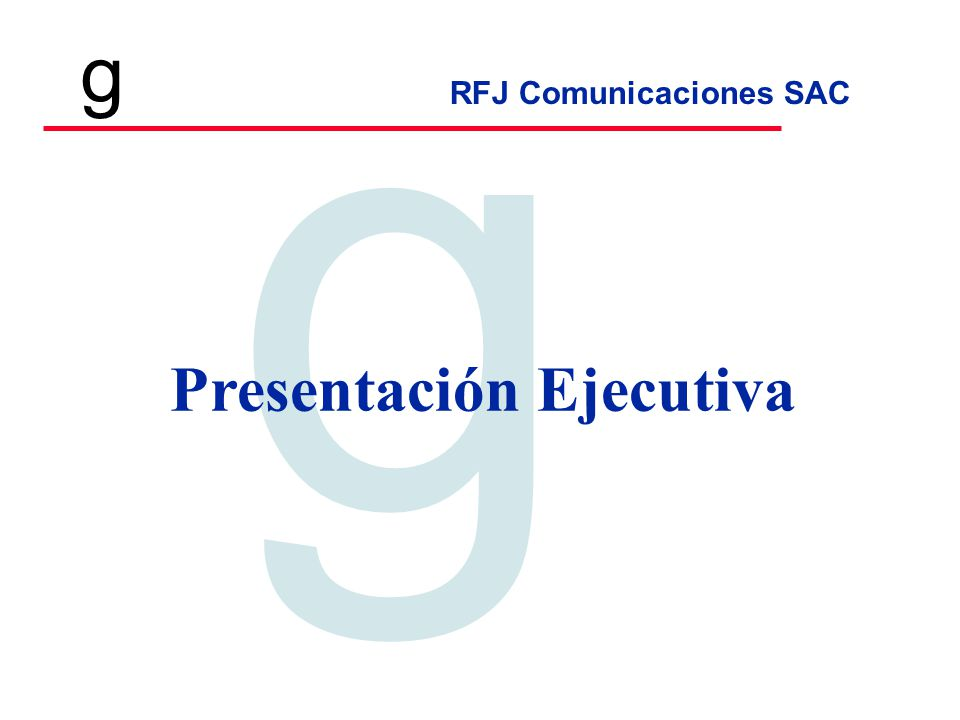 Presentación Ejecutiva