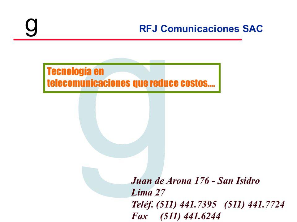 Tecnología en telecomunicaciones que reduce costos.... Juan de Arona 176 - San Isidro. Lima 27. Teléf. (511) 441.7395 (511) 441.7724.