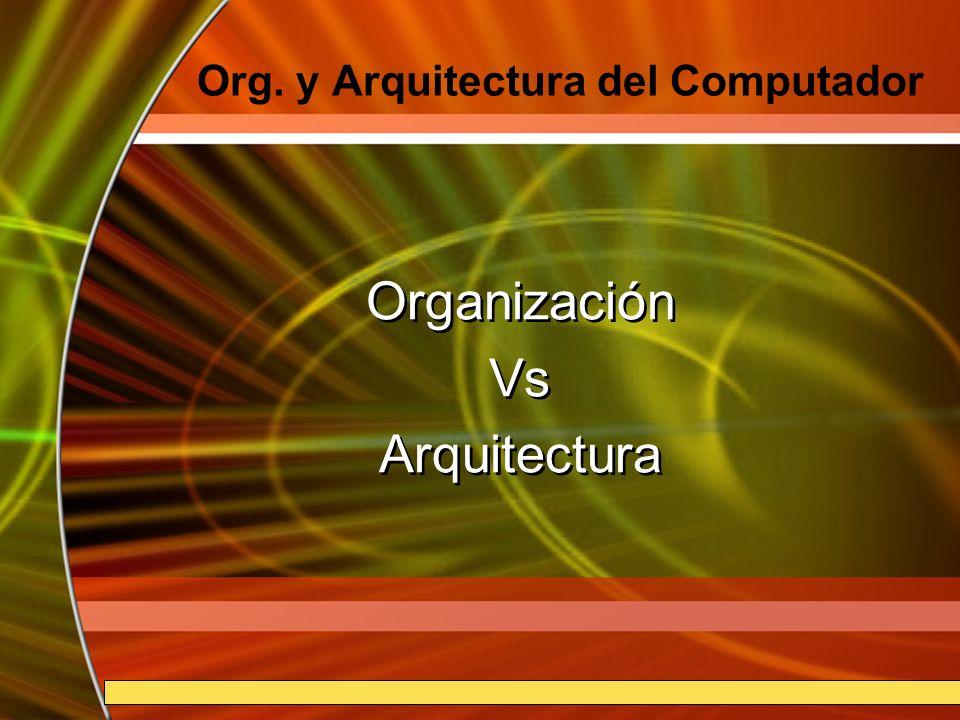Org. y Arquitectura del Computador
