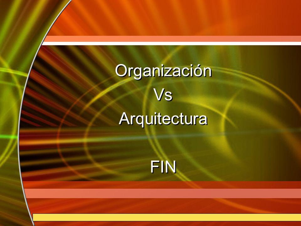 Organización Vs Arquitectura FIN