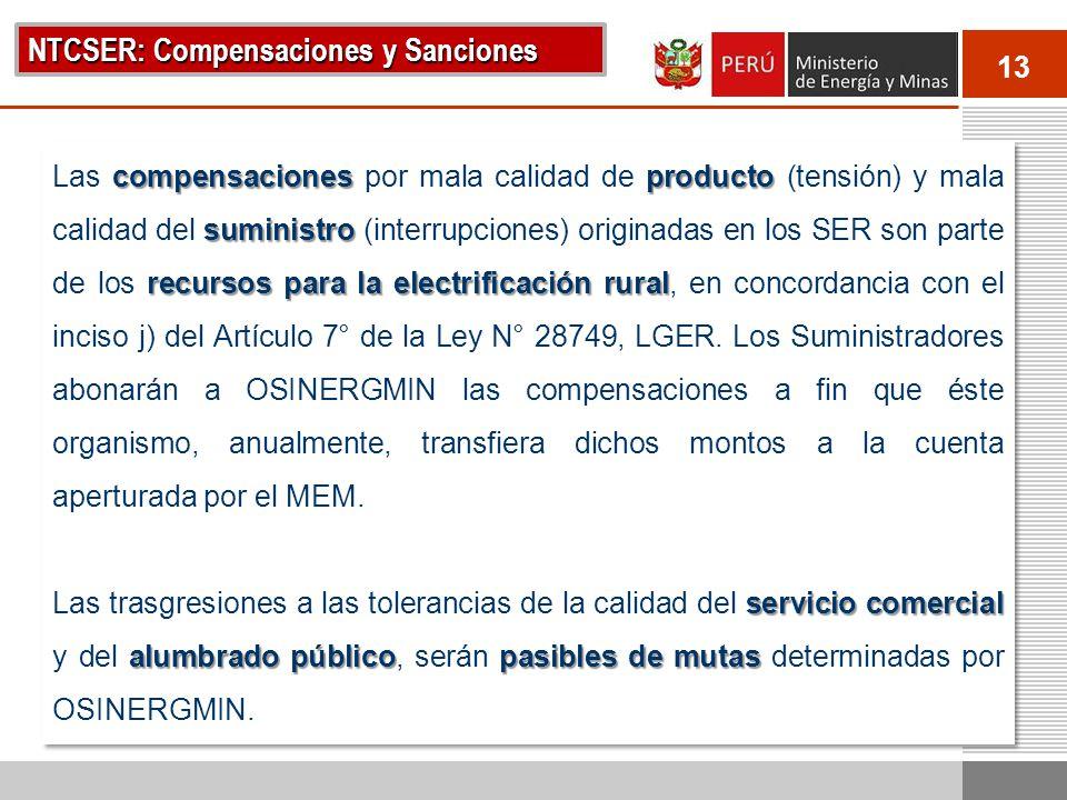 NTCSER: Compensaciones y Sanciones