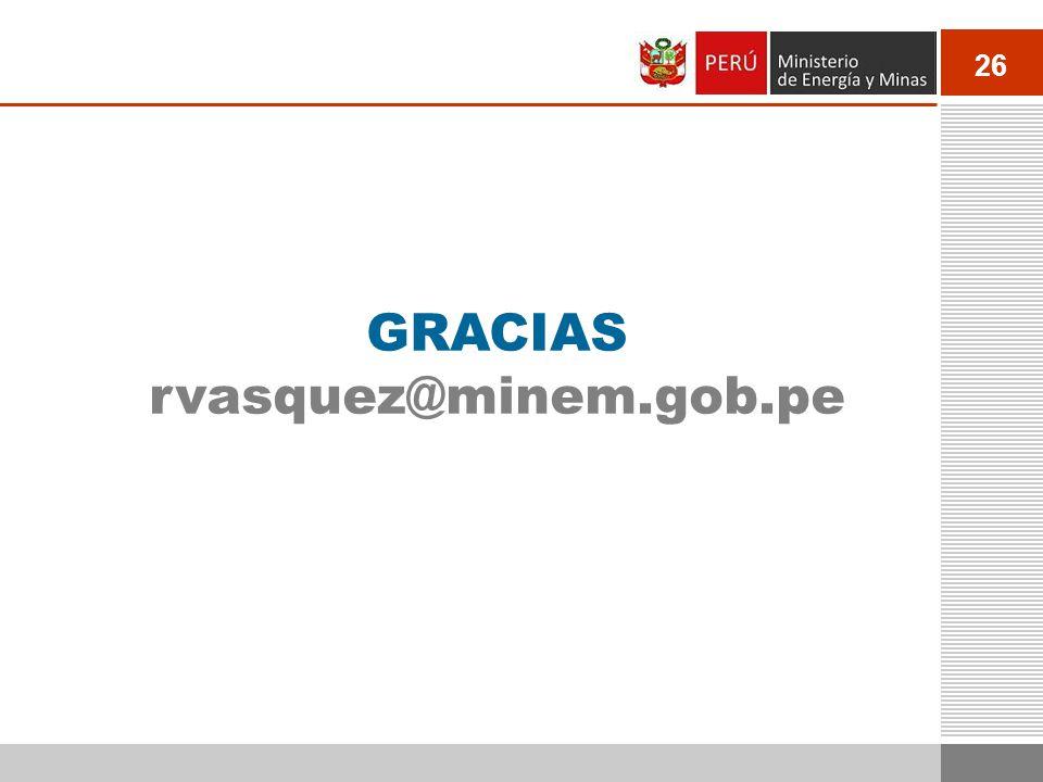 GRACIAS rvasquez@minem.gob.pe