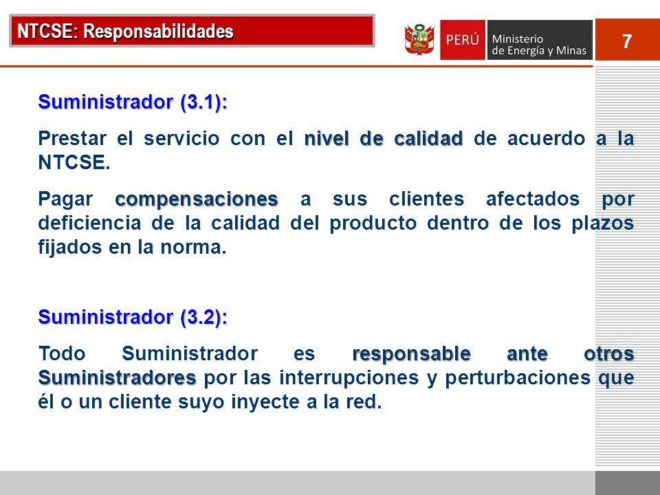 NTCSE: Responsabilidades