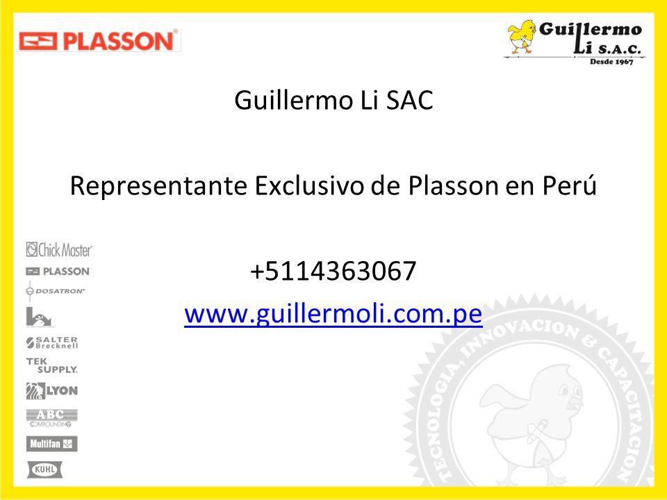 Representante Exclusivo de Plasson en Perú