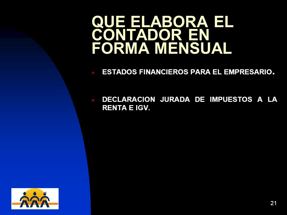 QUE ELABORA EL CONTADOR EN FORMA MENSUAL