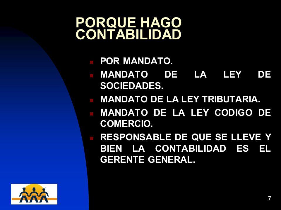 PORQUE HAGO CONTABILIDAD
