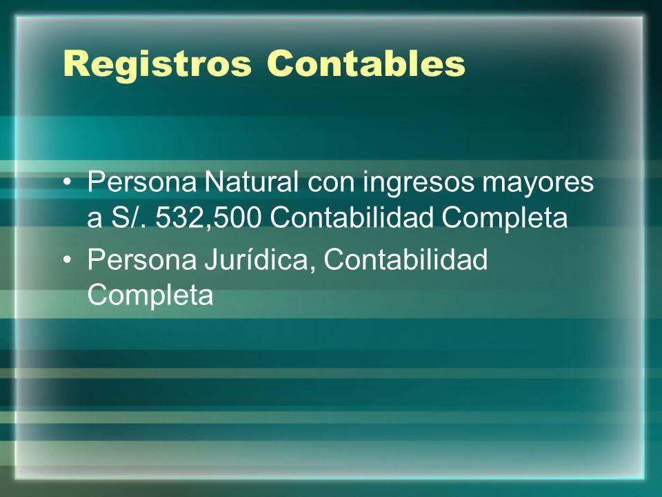 Registros Contables Persona Natural con ingresos mayores a S/.