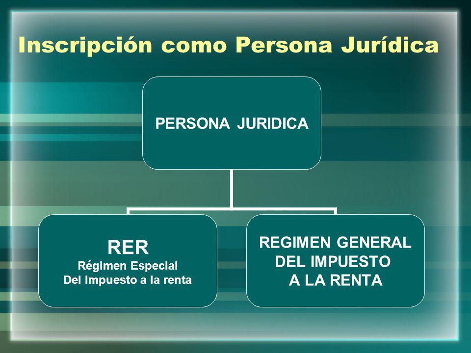 Inscripción como Persona Jurídica