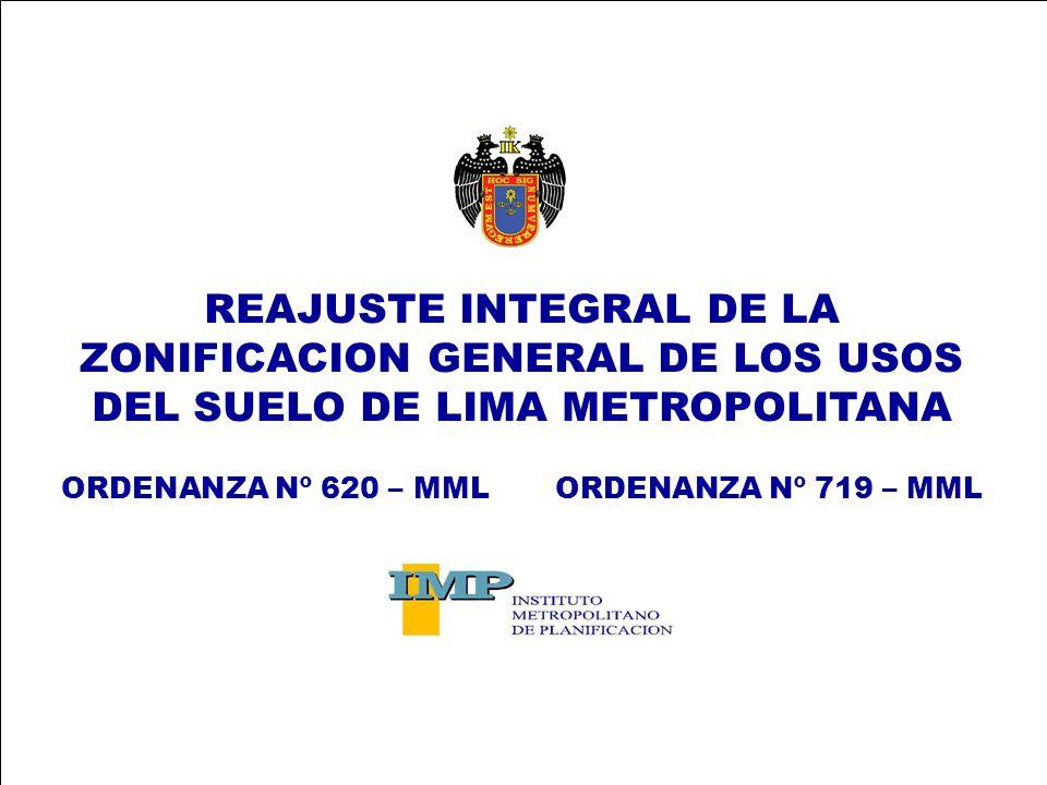 REAJUSTE INTEGRAL DE LA ZONIFICACION GENERAL DE LOS USOS