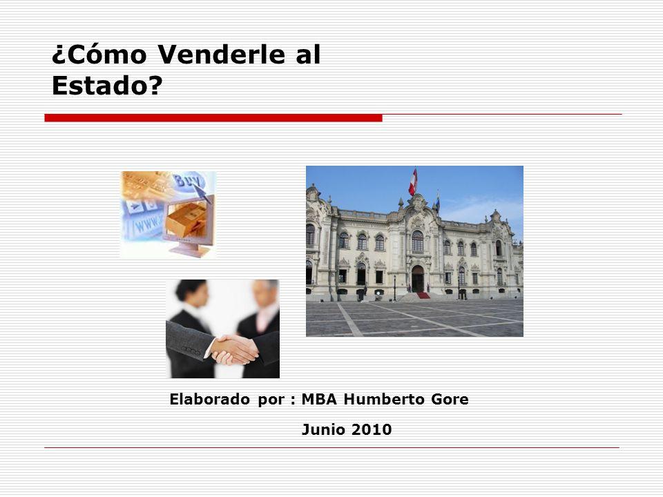 Elaborado por : MBA Humberto Gore