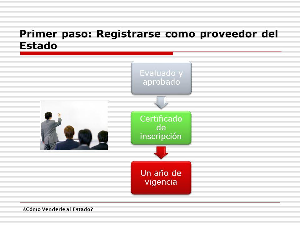 Certificado de inscripción