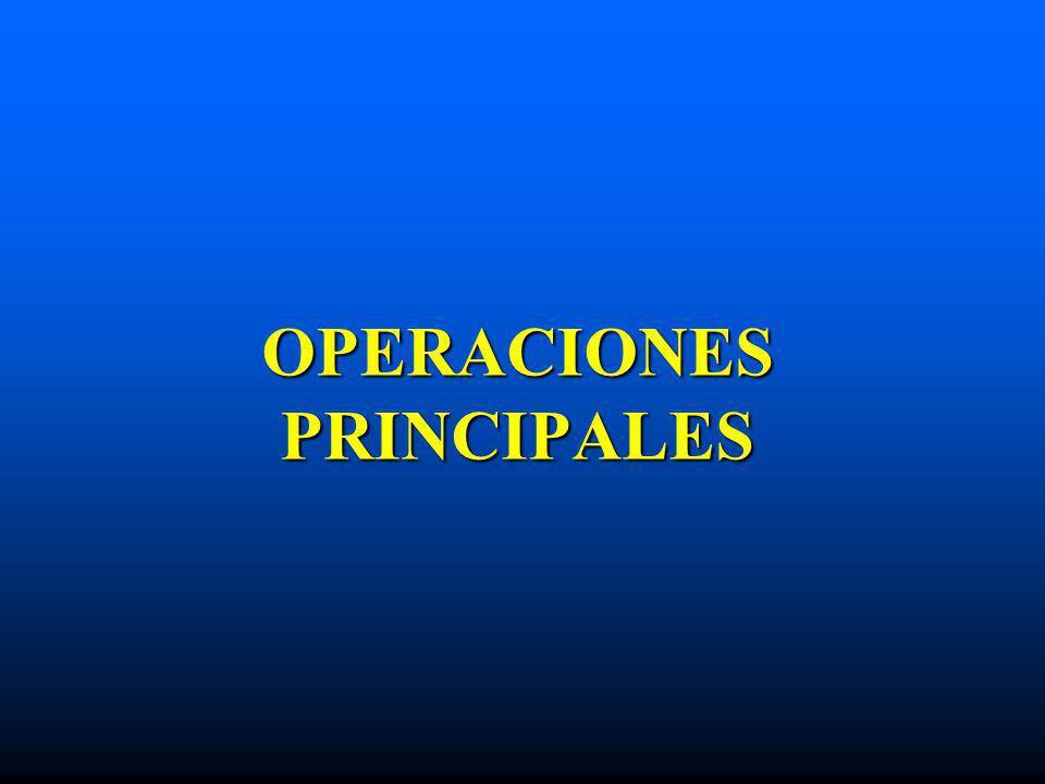 OPERACIONES PRINCIPALES