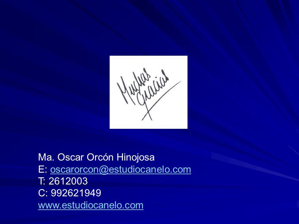 Ma. Oscar Orcón Hinojosa