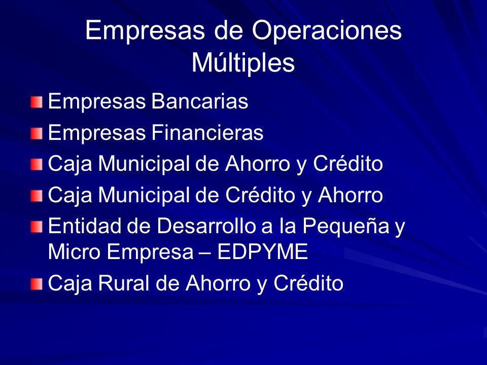 Empresas de Operaciones Múltiples