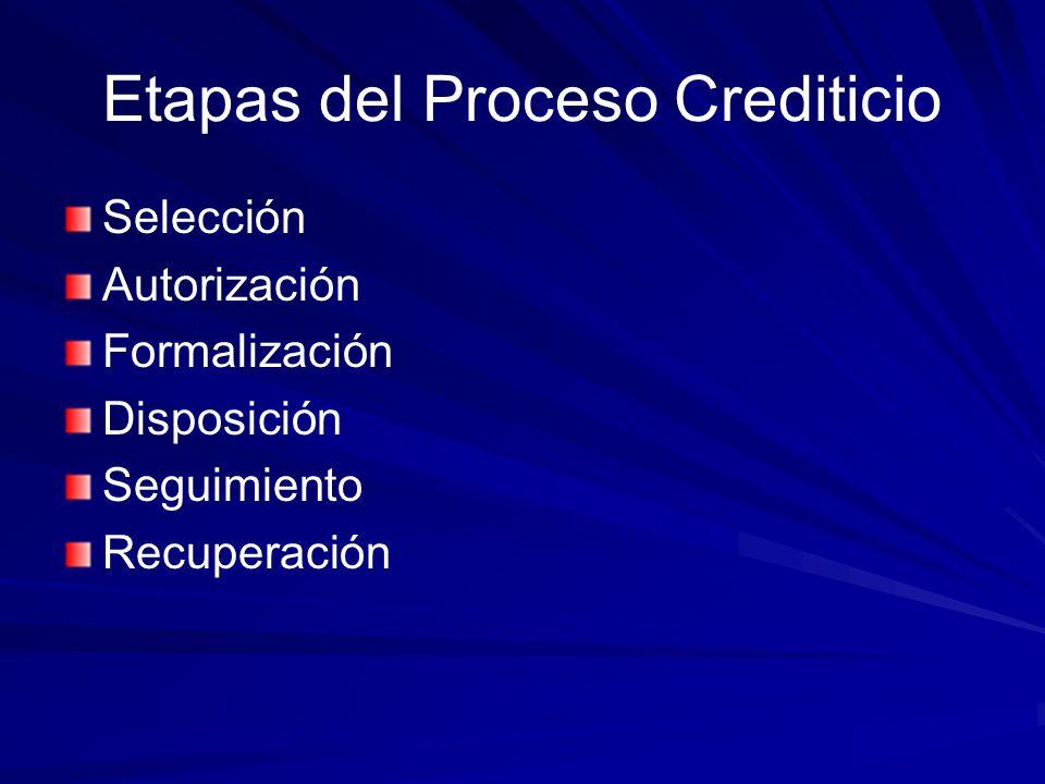 Etapas del Proceso Crediticio