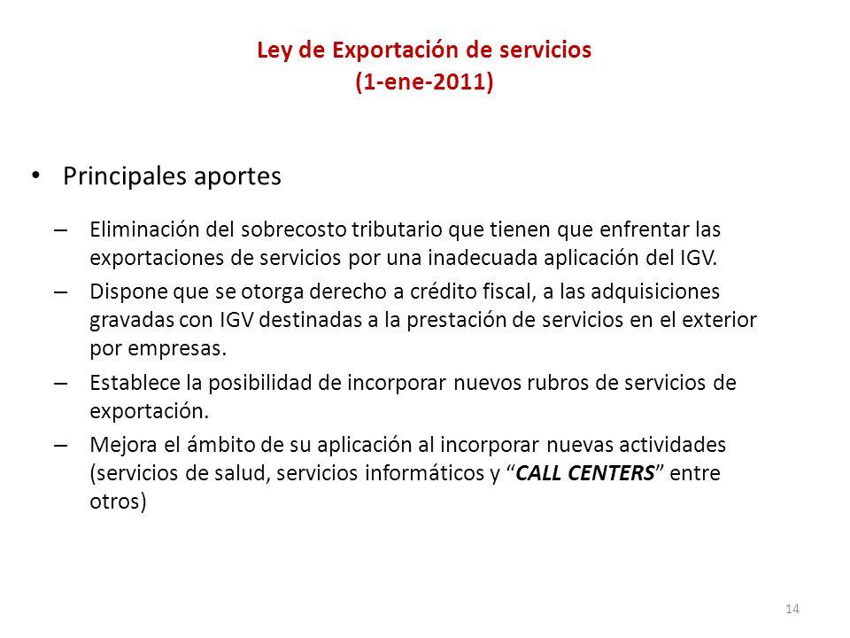 Ley de Exportación de servicios